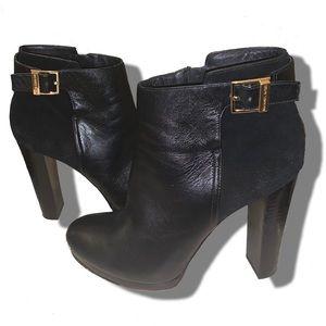 Michael KORS leather & suede high heel booties❤️